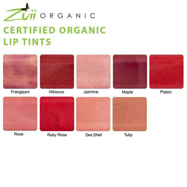 100% Certified Organic Flora Lip Tint 'Maple' by Zuii Certified Organics Australia - ArabianGlitz