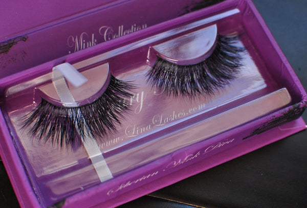 100% Serbian Mink fur eyelashes - by Lina Mink Lashes - ArabianGlitz