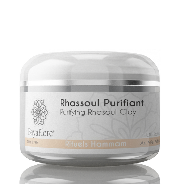 Organic Moroccan Purifying & tightening Rashoul Clay with pure Argan for face - ArabianGlitz