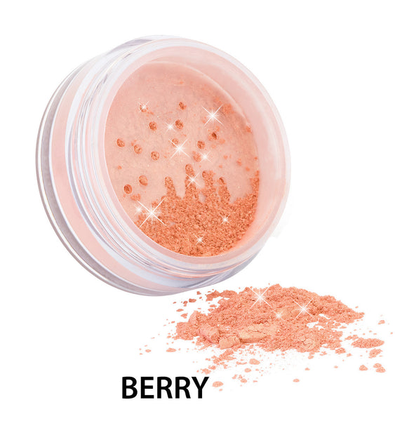 100% Certified Organic Flora Diamond Sparkle Blush 'Berry' by Zuii Certified Organics Australia - ArabianGlitz