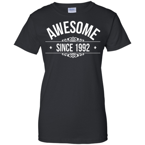 25th Birthday Gift Shirt Awesome Since 1992 25 Year Old Women T