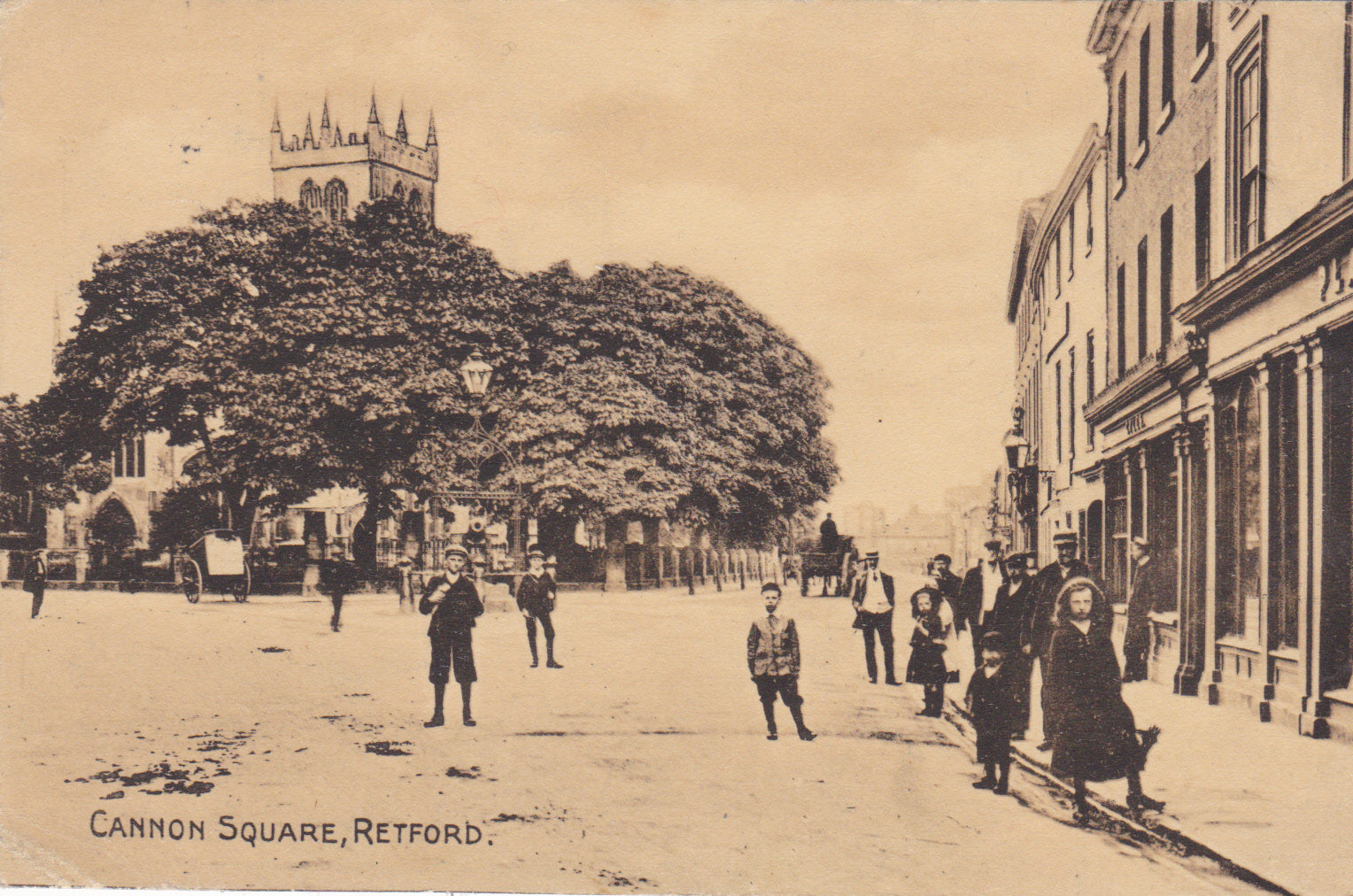 Cannon Square, Retford - 1921 postcard