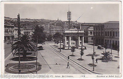 VALPARAISO, ARCO BRITANICO REAL PHOTO POSTCARD (ref 2030)
