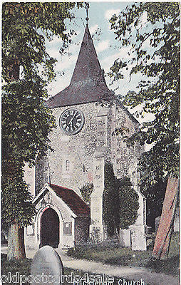 MICKLEHAM CHURCH, SURREY c1918 POSTCARD (ref 3431)