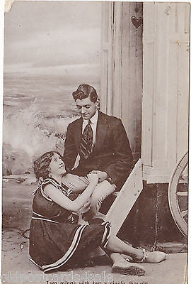 TWO MINDS WITH BUT A SINGLE THOUGHT - 1913 REAL PHOTO POSTCARD (ref 2287/14/Y