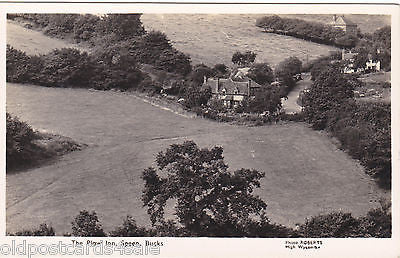 THE PLOW INN, SPEEN, BUCKS - AERIAL REAL PHOTO POSTCARD (ref 4799/13)