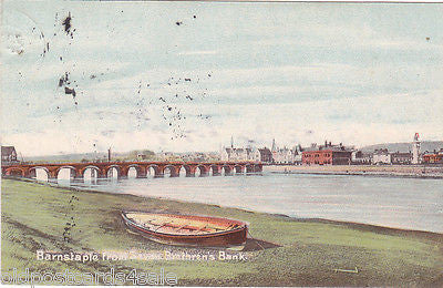 BARNSTAPLE FROM SEVEN BRETHREN'S BANK - EARLY 1900s (ref DEB5083/13)
