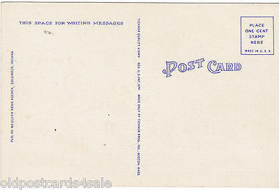 POST OFFICE, COLUMBUS, INDIANA - POSTCARD (ref 5597/13)