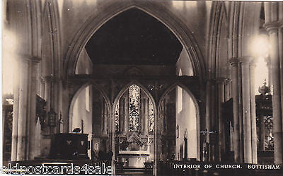BOTTISHAM CHURCH INTERIOR - REAL PHOTO POSTCARD (re 7280)