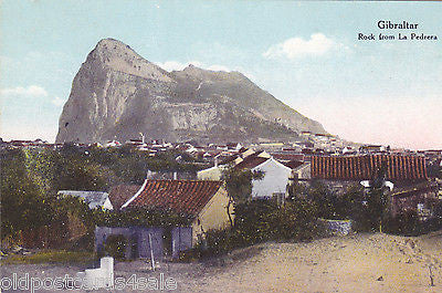 Old postcard of Gibraltar, Rock from La Pedrera
