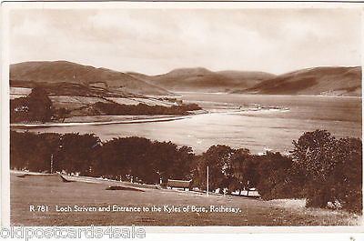 LOCH STRIVEN, KYLES OF BUTE ENTRANCE, RP POSTCARD - DAINTY  SERIES (ref 1785)