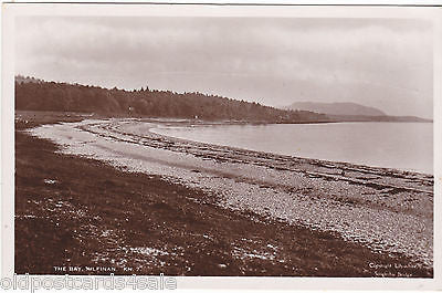 THE BAY, KILFINAN - ARGYLL - 1930s REAL PHOTO POSTCARD (ref 3777/12)