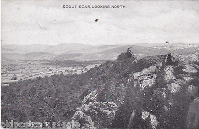 SCOUT SCAR, LOOKING NORTH - OLD POSTCARD (ref 1911)