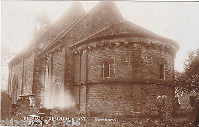 KILPECK CHURCH, EAST - OLD REAL PHOTO POSTCARD (ref 5316/16)