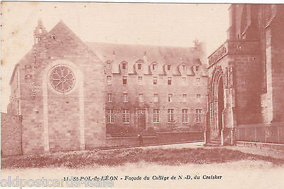 Old postcard of St-Pol-de-Leon