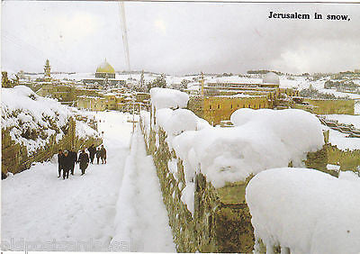 JERUSALEM IN THE SNOW - POSTCARD (ref 4863/12)