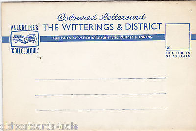 THE WITTERINGS, c1950s/EARLY60s LETTER CARD 6 VIEWS (ref 2244)