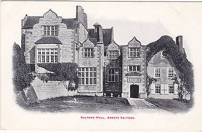 SALFORD HALL, ABBOTS SALFORD EARLY 1900s POSTCARD (ref 7403)