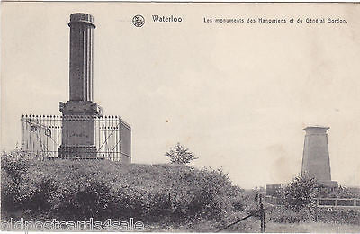 WATERLOO, MONUMENTS DES HANOVRIENS ET DU GENERAL GORDON (ref 4609/12)