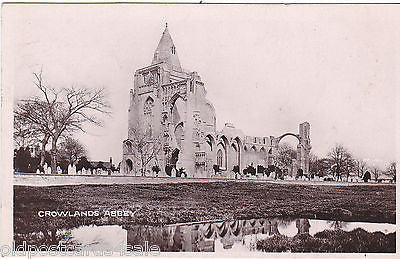 CROWLANDS ABBEY - 1935 REAL PHOTO POSTCARD (ref 7221/14)