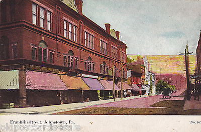 FRANKLIN STREET, JOHNSTOWN, PA. - OLD POSTCARD (ref 3918/12)