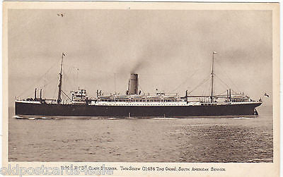 "RMSP ""D"" CLASS STEAMER, SOUTH AMERICAN SERVICE POSTCARD (ref 5944/13)"