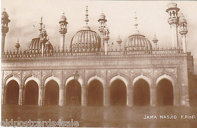 JAMA MASJID - R. PINDI - REAL PHOTO POSTCARD (ref 4273/12)