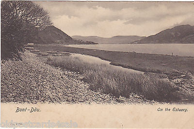 BONT DDU (nr BARMOUTH) - ON THE ESTUARY - OLD POSTCARD (ref 5064)