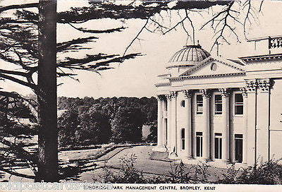 SUNDRIDGE PARK MANAGEMENT CENTRE, BROMLEY - REAL PHOTO POSTCARD  (ref 4782/15)