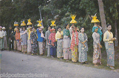 MALAY WEDDING PROCESSION - OLD POSTCARD (ref 6776/13)