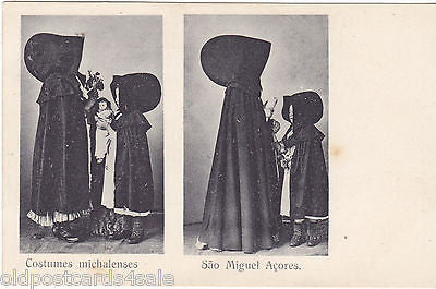 COSTUMES MICHALENSES - SAO MIGUEL ACORES - OLD POSTCARD (ref 3064/14)