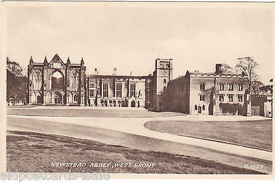 NEWSTEAD ABBEY, WEST FRONT - OLD POSTCARD (ref 1943)