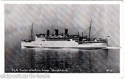 P&O TURBO ELECTRIC LINER, STRATHAIRD - PRINTED POSTCARD (ref 7150/14)