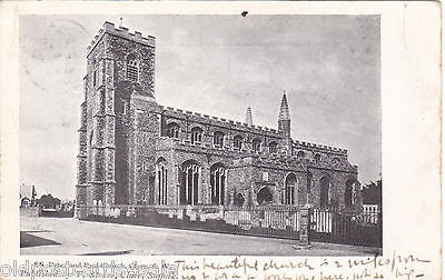 SS PETER AND PAUL CHURCH, CLARE, SUFFOLK - 1906 POSTCARD (ref 2505)