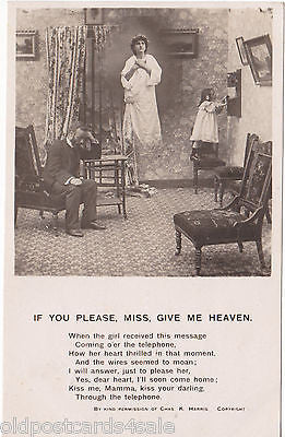 IF YOU PLEASE MISS, GIVE ME HEAVEN - BAMFORTH SONG CARD