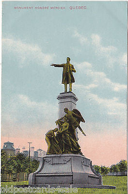 MONUMENT HONORE MERCIER, QUEBEC - OLD POSTCARD (ref 4636/12)