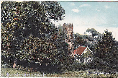 GUMFREYSTONE CHURCH, PEMBROKESHIRE - OLD POSTCARD (ref 7296/14)