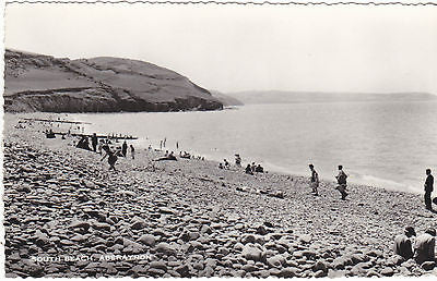 South Beach, Aberayron - real photo postcard (ref 5245/12)