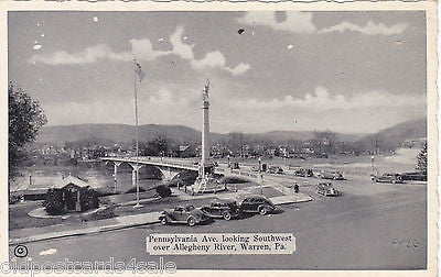 PENNSYLVANIA AVE., LOOKING SOUTHWEST OVER ALLEGHENY RIVER, WARREN, PA (ref 3789)