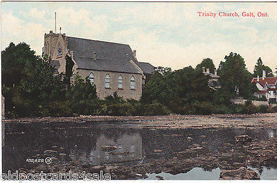 TRINITY CHURCH, GALT, ONTARIO POSTCARD (ref 2170)