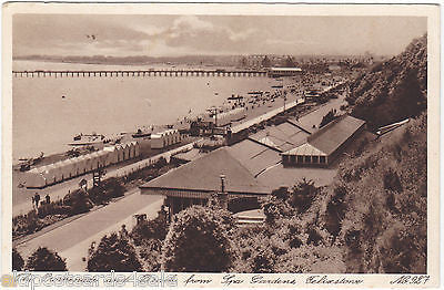 PROMENADE AND BEACH FROM SPA GARDENS FELIXSTOWE - SHOWING PIER - 1932 (7188/14)