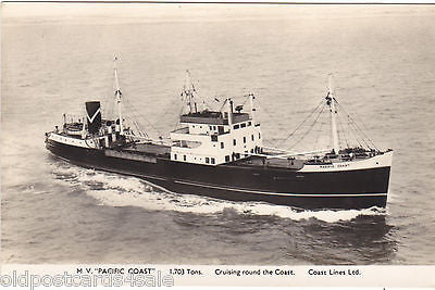 MV PACIFIC COAST - CRUISING ROUND THE COAST RP PLAIN BACK POSTCARD