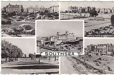 SOUTHSEA - REAL PHOTO MULTIVIEW POSTCARD, POSTED 1961 (ref 5286/14)
