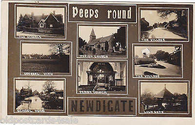 PEEPS ROUND NEWDIGATE - 1916 MULTIVIEW REAL PHOTO POSTCARD (ref 2431/15)