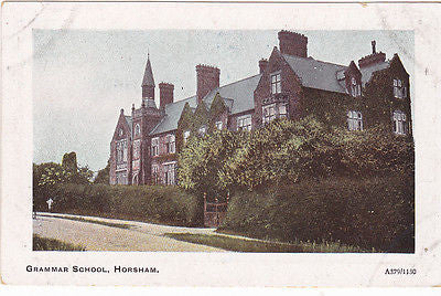 GRAMMAR SCHOOL, HORSHAM, SUSSEX - PRE 1918 POSTCARD (ref 3200)