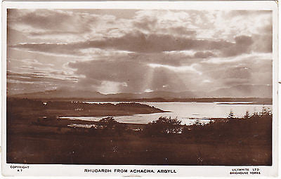 RHUGARBH FROM ACHACHA, ARGYLL - LILYWHITE REAL PHOTO 1950 (ref 3076)