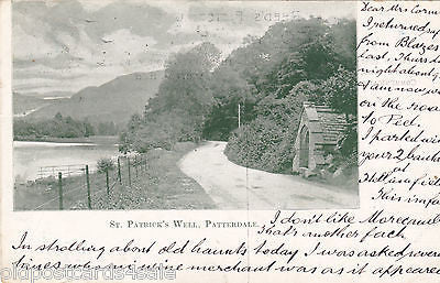 ST PATRICK'S WELL, PATTERDALE (CUMBERLAND) - 1904 POSTCARD (ref 3680)