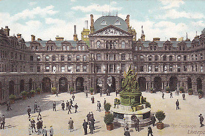 THE EXCHANGE, LIVERPOOL - OLD POSTCARD (ref 6054/13)