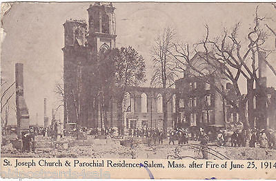 St Joseph Church & Parochial Residence, Salem after Fire, 1914