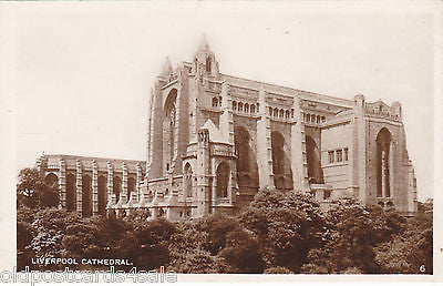 LIVERPOOL CATHEDRAL (unfinished), OLD REAL PHOTO POSTCARD (ref 5835/13)